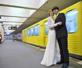 Rebecca & Jürgen in der Berliner U-Bahn