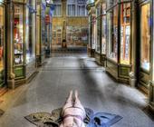 Erotikfotografie Mellinpassage Hamburg, älteste Einkaufspassage Deutschlands (HDRI)
