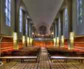 Architekturfotografie: St.Ansgar-Kirche Langenhorn (HH) mit Blick auf die verdeckte Orgel