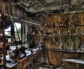Alte Holzwerkstatt - heute existiert sie nicht mehr.